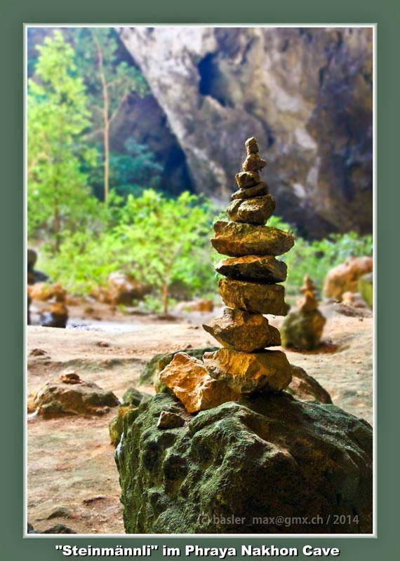 Khao Sam Roi Yot National Park: Phraya Nakhon Cave: Steinmännli
