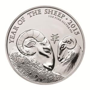 Münze zum Jahr des Schafes