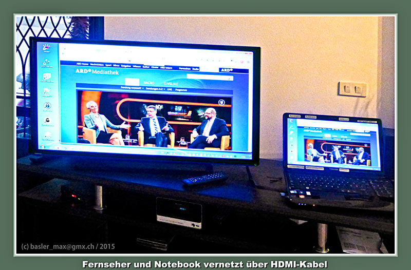 Neue Fernseh-Installation über HDMI und Notebook