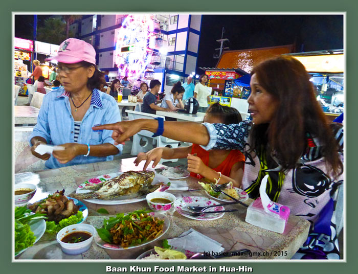 Hua-Hin Soi88, Baan Khun Por Food Court- Party Essen, Pat Max