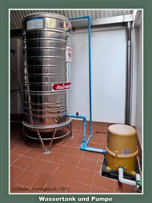 Hua-Hin Soi94 Wassertank und Pumpe