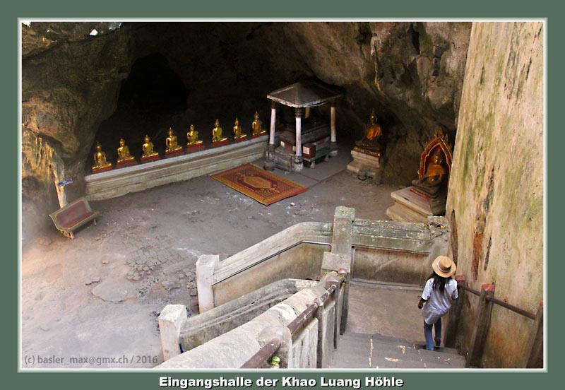 Phatchaburi Höhle Tempel Khao Luang Pat Eingangshalle