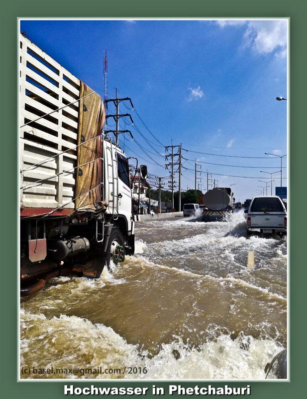 3. Nov. 2016 Hochwasser Stausee Phetchaburi