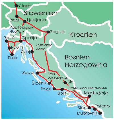 234 Fahrt Mit Dem Camper Mobilhome Von Istrien Nach Dubrovnik Im
