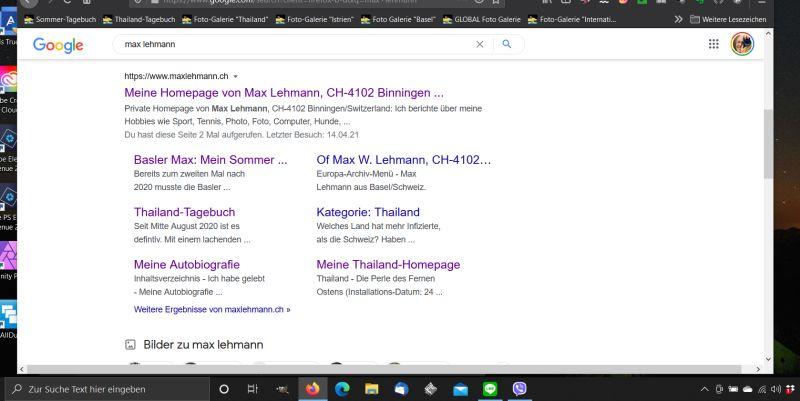 """Screenshot Google Suche nach """"max lehmann"""""""