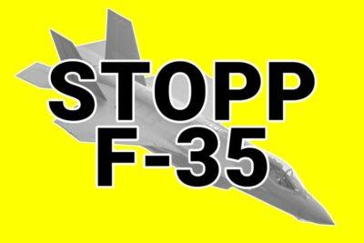 Stop F-35 Kampfjet