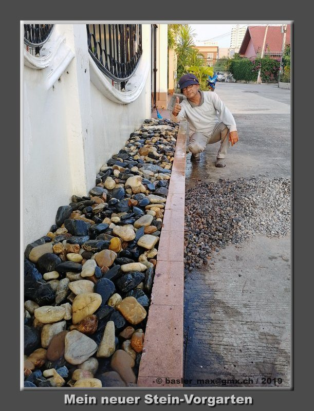 Steine beim Vorgarten